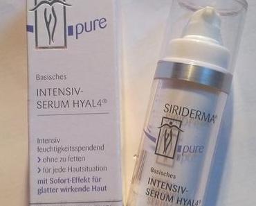 [Werbung] Siriderma pure Basisches Intensiv-Serum Hyal 4