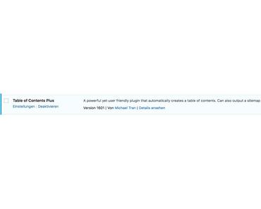 WordPress Quickie: Wie werden automatische Inhaltsverzeichnisse erstellt?
