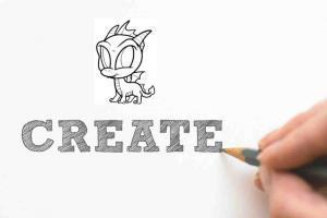 Kreativ sein und kritzeln