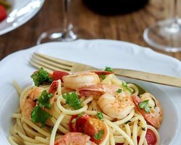 Lieblings-Spaghetti mit Garnelen und Moet Chandon Vintage 2008 + Gewinnspiel
