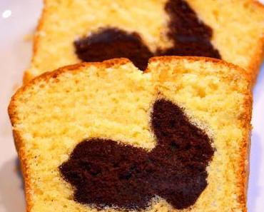 Saftiger Hasenkuchen oder Marmor-Kuchen im Oster-Look