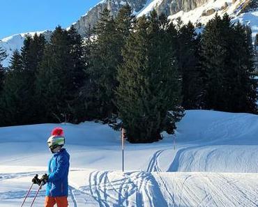 Fast so gut: Mamma fährt Skirennen