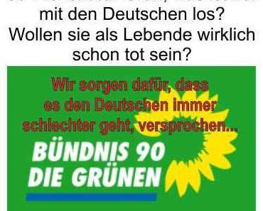 Sympathiewerte für die Grünen bei 38 Prozent, Deutschland ist nicht mehr zu retten