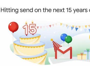GMAIL: Geschenke zum 15. Geburtstag