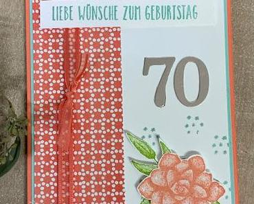 Glückwünsche zum 70. Geburtstag