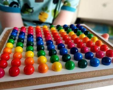 Schauen - Legen - Kreativ sein : Das Mini Kugelspiel von SINA  Spielzeug & Gewinnspiel