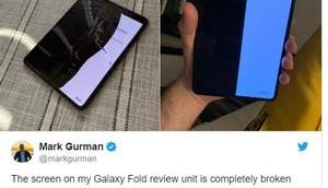 Samsungs Falthandy Galaxy Fold kann knicken…
