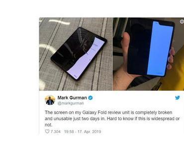 Das Samsungs Falthandy Galaxy Fold kann man knicken…