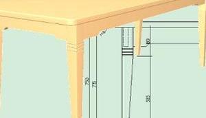 mein Tisch Birnenholz