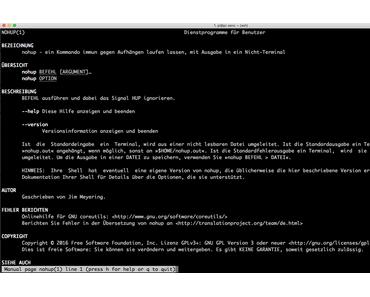 Linux Quickie: Nohup oder wie können Programme im Hintergrund laufen?