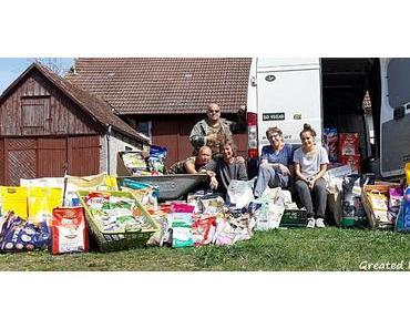 Spendenfahrt / Tierhilfe Hechelein  Ostern 2019