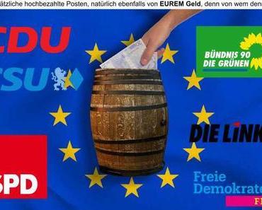 Nur nichtssagende Wahlplakate, dabei wollt ihr lediglich das Geld vom Steuerzahler und für euch selbst hochbezahlte Posten