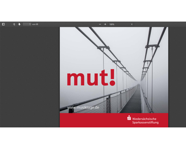 """Niedersächsische Musiktage 2019 (zum 33. Mal) zum Thema """"Mut!"""", 31. August bis 29. September"""