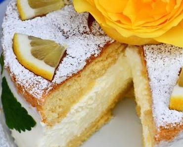 Käse-Sahne-Torte mit Zitrone und ohne Gelatine