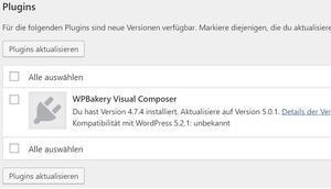 Updates Update-Benachrichtigungen WordPress verbergen