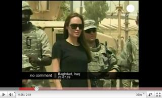 Angelina Jolie besucht verletzte US-Soldaten in Ramstein