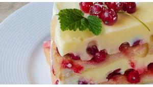 Johannistag Kuchen ohne Backen No-Bake Zwieback-Pudding Torte Gutedel Markgräflerland