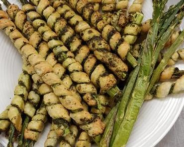 Pesto-Spargelstangen (vegan)