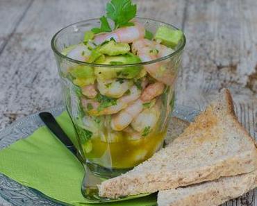 Mein Mann kann: Avocado-Tatar mit Garnelen im Glas – (Mitt-)Sommerküche