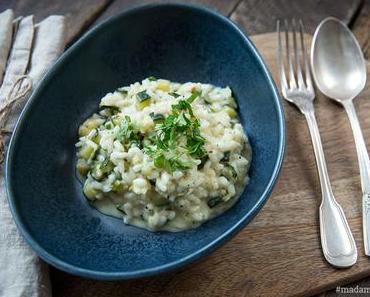 Cremiges Risotto mit Zucchini & Schlagsahne