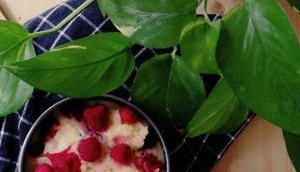 Grießauflauf Himbeeren Cranberries [vegan]