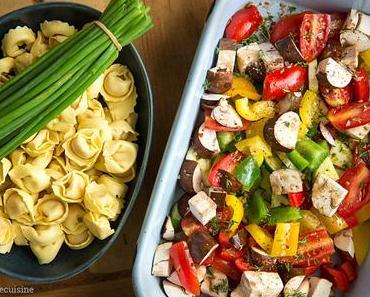 Überbackene Tortellini mit Gemüse