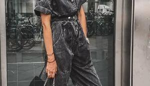 Monochrome Monday: Acid Wash Teil Woman Black