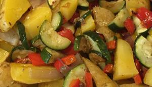 summertime: Salate Sattessen oder Mediterraner Ofengemüse-Salat