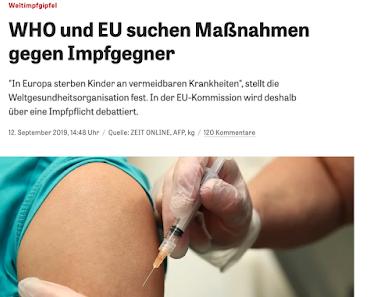 Impfpflicht per Fake-News