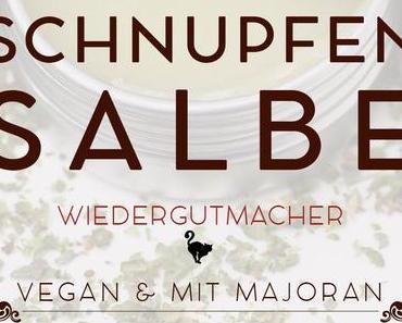 Majoran Schnupfensalbe im veganen Kleid