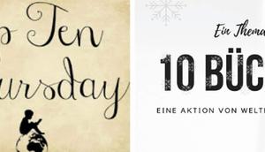 Bücher einem winterlich weihnachtlichem Cover