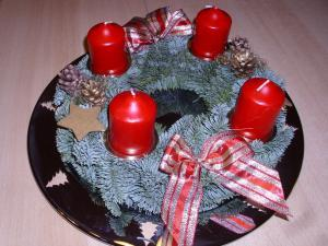 Adventskalendertürchen Adventskranz