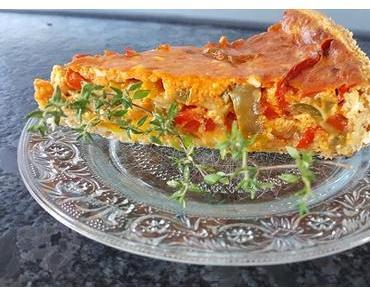Paprika-Quiche - bunt und gesund