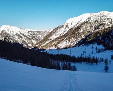Skitour auf den Taferlnock: Wenig Sonne, viel Pulver