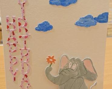 "DIY – Geburtstagskarte ""Elefant"""
