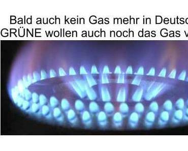 Die GRÜNE Verbotspartei will neben dem Atom- und Kohleausstieg zusätzlich den Gasausstieg…