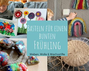 Bastelideen für einen bunten Frühling - mit Wolle und Wachsmalern