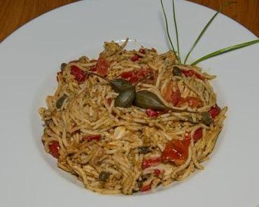 Spaghetti mit Kapern (vegan)
