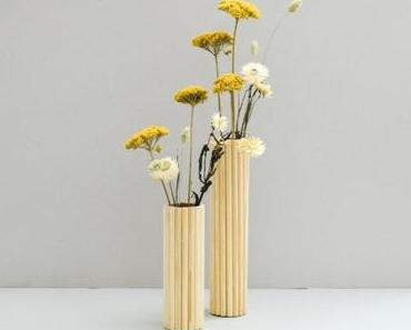 Upcycling leicht gemacht: DIY Holzvase