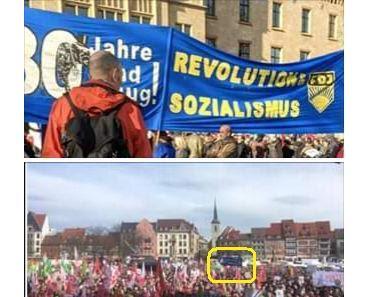 Erfurt: Linke aus der gesamten Republik demonstrieren gegen Demokratie und Freiheit