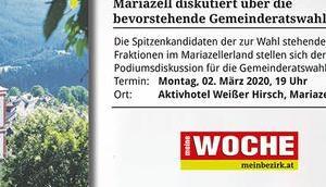 Termintipp: Podiumsdiskussion Gemeinderatswahl