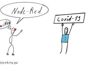 Wie können live Covid-19 Daten per Node-RED an Twitter und Pushover gesendet werden?