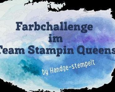 Farbchallenge im Team Stampin Queens - raffiniertes Osterkörbchen in Schiefergrau, Currygelb & Bermudablau