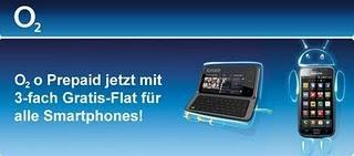 O2 o Prepaid mit Top Smartphone und 3-fach Gratis-Flat