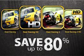 Dieses Wochenende: alle Real-Racing-Spiele bis zu 80% günstiger