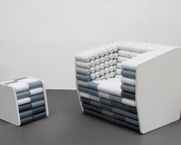 Sessel aus Sprühdosen | Design