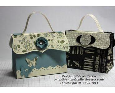 2 kleine Handtaschen mit der Tope Note