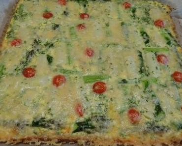 Spargel-Quiche mit Parmesan