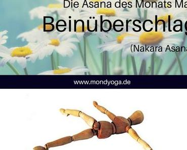 Asana des Monats Mai 2020: Der Beinüberschlag (Krokodil)