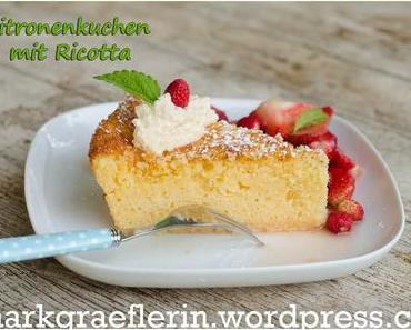 Sonntagkskuchen oder Dessert: Zitronenkuchen mit Ricotta